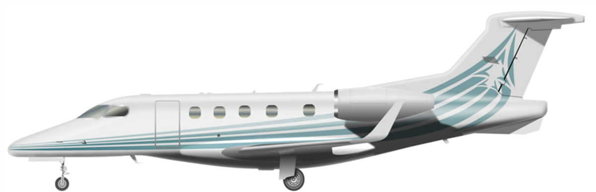 Large embraer phenom 300 side
