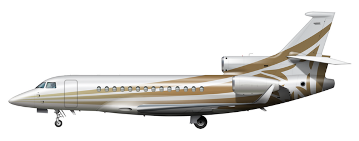 Large dassualt falcon 7x side